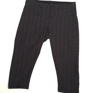 PrAna Gray Jacquard Knicker Cropped Leggings XS